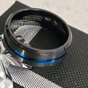 Thin Blue Line Men's Ring-Titanium 10 and 11 NWOT